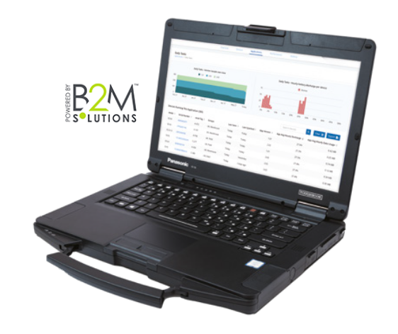 B2m Solutions, image of Toughbook